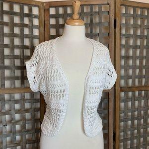 Sonoma white knit Shrug - Med